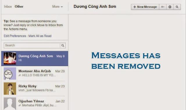 Cara menghapus semua pesan facebook dengan cepat