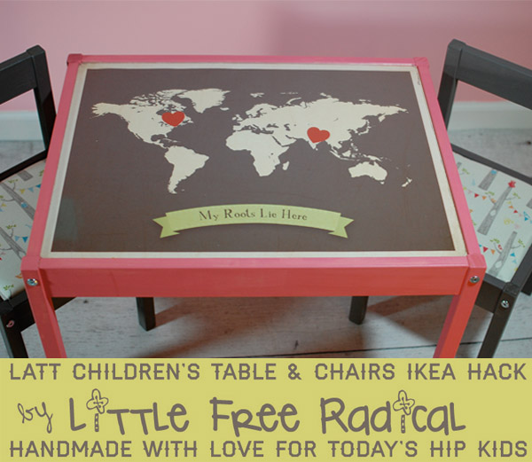 Little Free Radical 20 Latt Children S Table Chairs Makeover D I Y Ikea Hack Little Free Radical