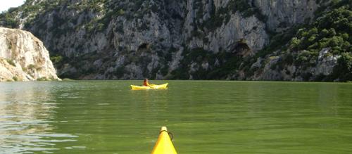 Escursione in canoa lungo il Cedrino
