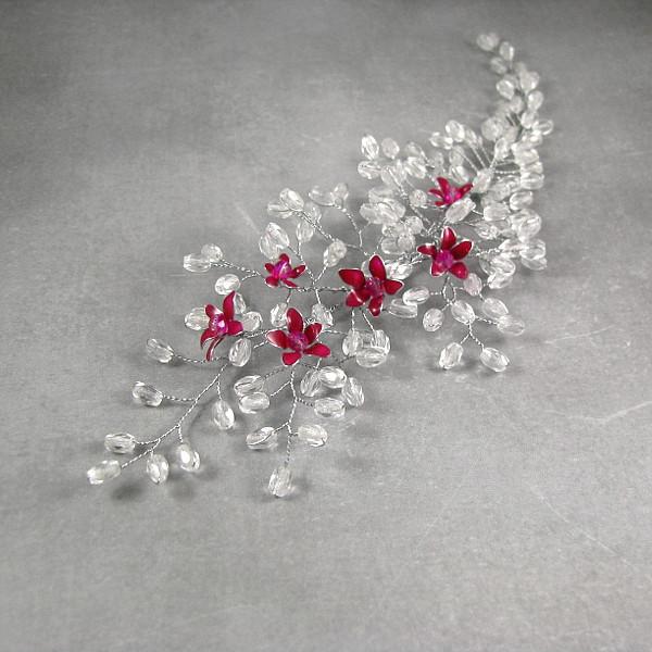 Ślubna ozdoba do włosów - kwitnąca wiśnia