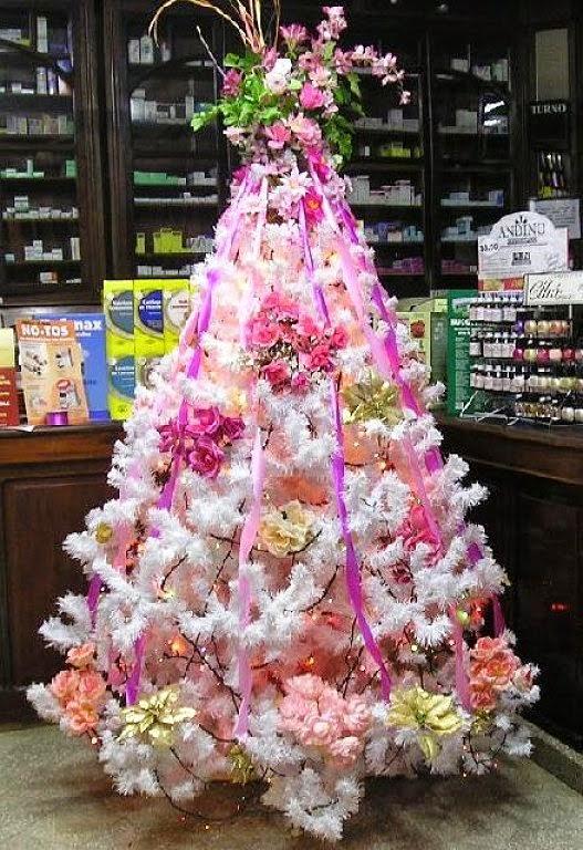 Manualidades - Arboles de navidad rosa ...