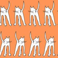 cat doodle pattern
