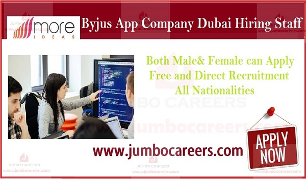 Byjus App Hiring Staff for Dubai | More Ideas General Trading UAE Careers 2019
