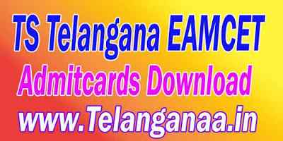 TS Telangana EAMCET TSEAMCET 2019 Admitcards Download