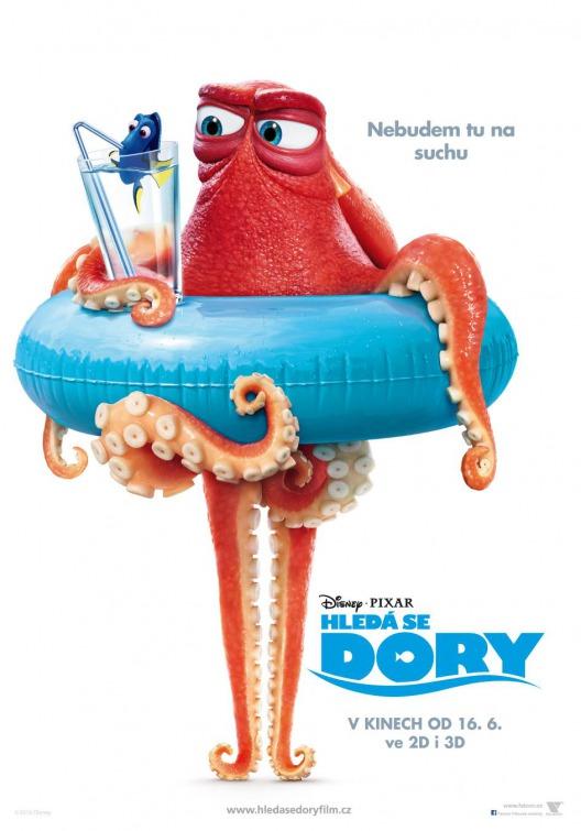 El pulpo cascarrabias Hank acapara los nuevos pósters de 'Buscando a Dory'