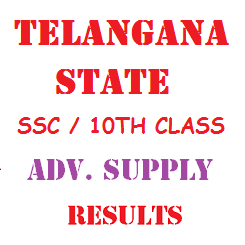 Telangana TS SSC 10th Class Advanced Supplementary Results