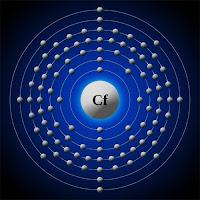 Kaliforniyum atomu ve elektronları