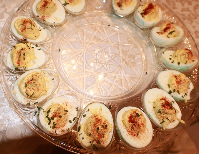 this is how to make deviled eggs and filling for Halloween Christmas or just as an appetizer recipe