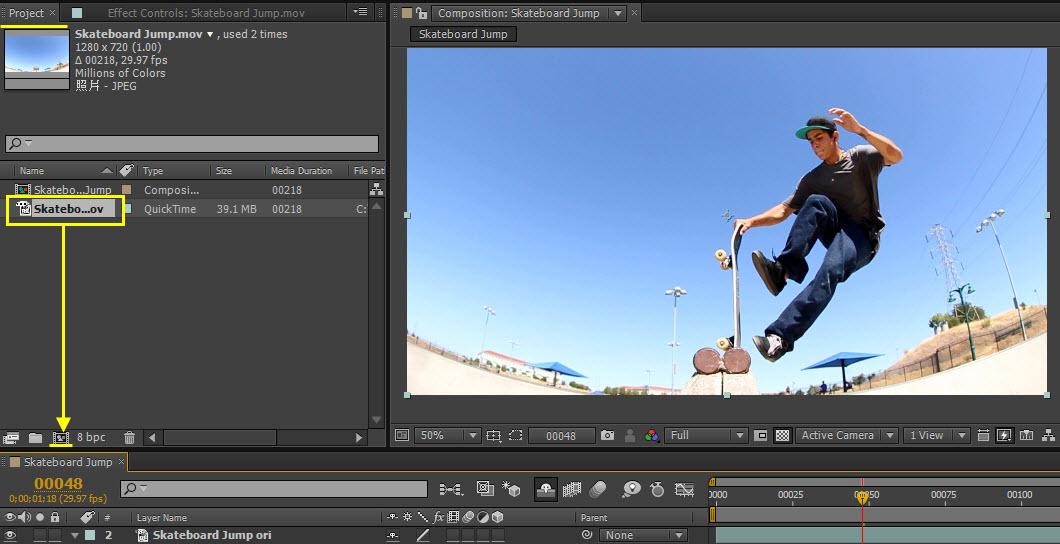 Skateboard Jump 01