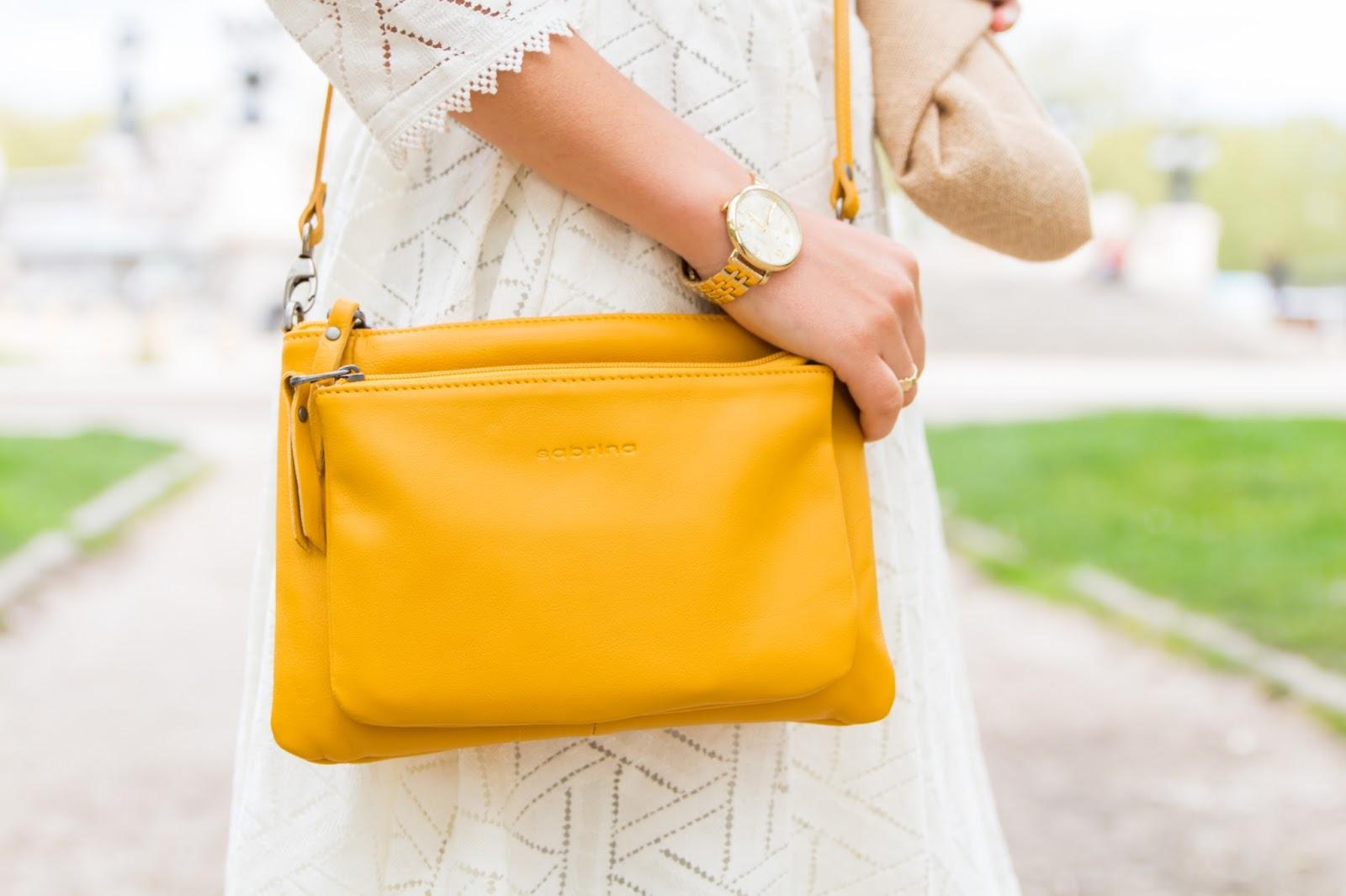 pochette jaune sabrina