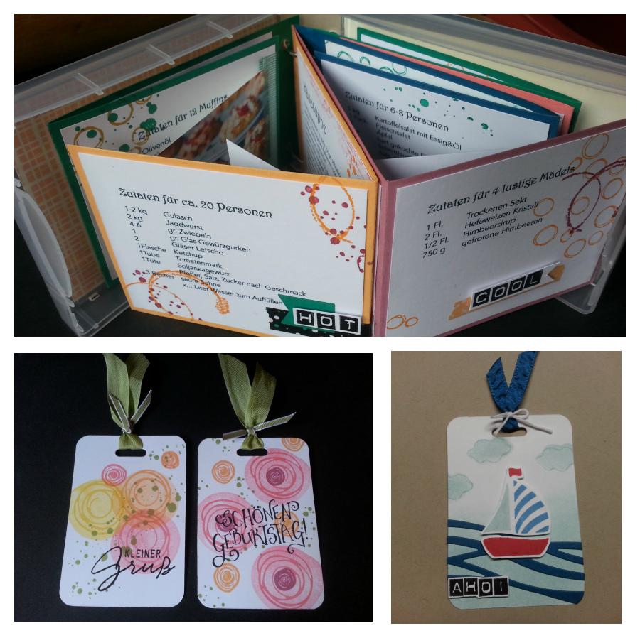 Minialbum in der Box, Kochbuch zum verschenken