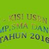 Kisi-Kisi Soal USBN/UASBN PAI SD, SMP, SMA dan SMK Tahun 2016