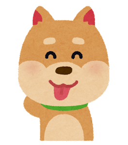 犬のイラスト「照れ」