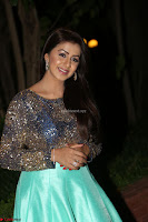 Nikki Galrani in Green Skirt  Top at Marakathamani music launch ~  Exclusive (74).JPG