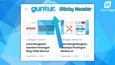 tutorial membuat header median ui menjadi sticky header