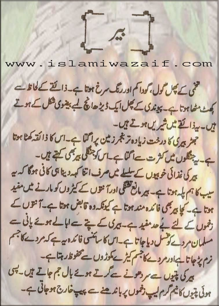 bair k fawaid in urdu