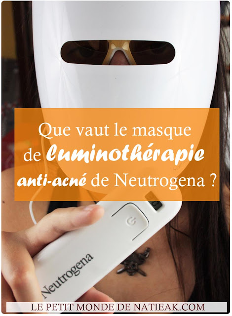 masque  luminothérapie anti-acné  Neutrogena avis