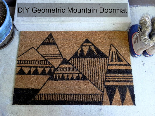 DIY ~ Geometric Mountain Doormat