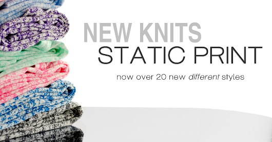 "Post Show Reviews - New Knit ""Static Print"""