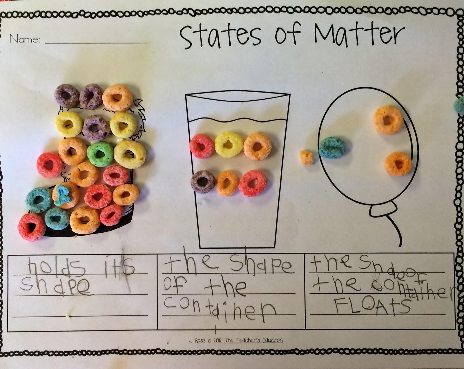Science 8 States Of Matter Worksheet