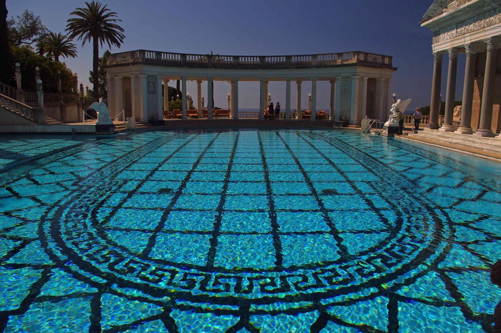 Usbackroads hearst castle san simeon california - Hearst castle neptune pool swim auction ...