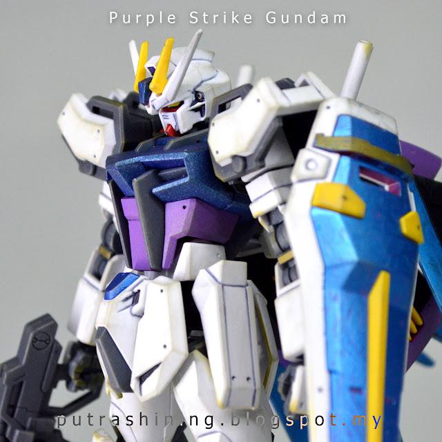 """HGCE 1/144 Aile Strike Gundam Custom by Putra Shining """"Purple Strike Gundam"""""""
