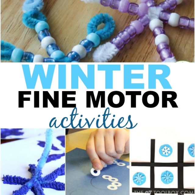 These fine motor winter activities will keep the kids active and moving all winter long.