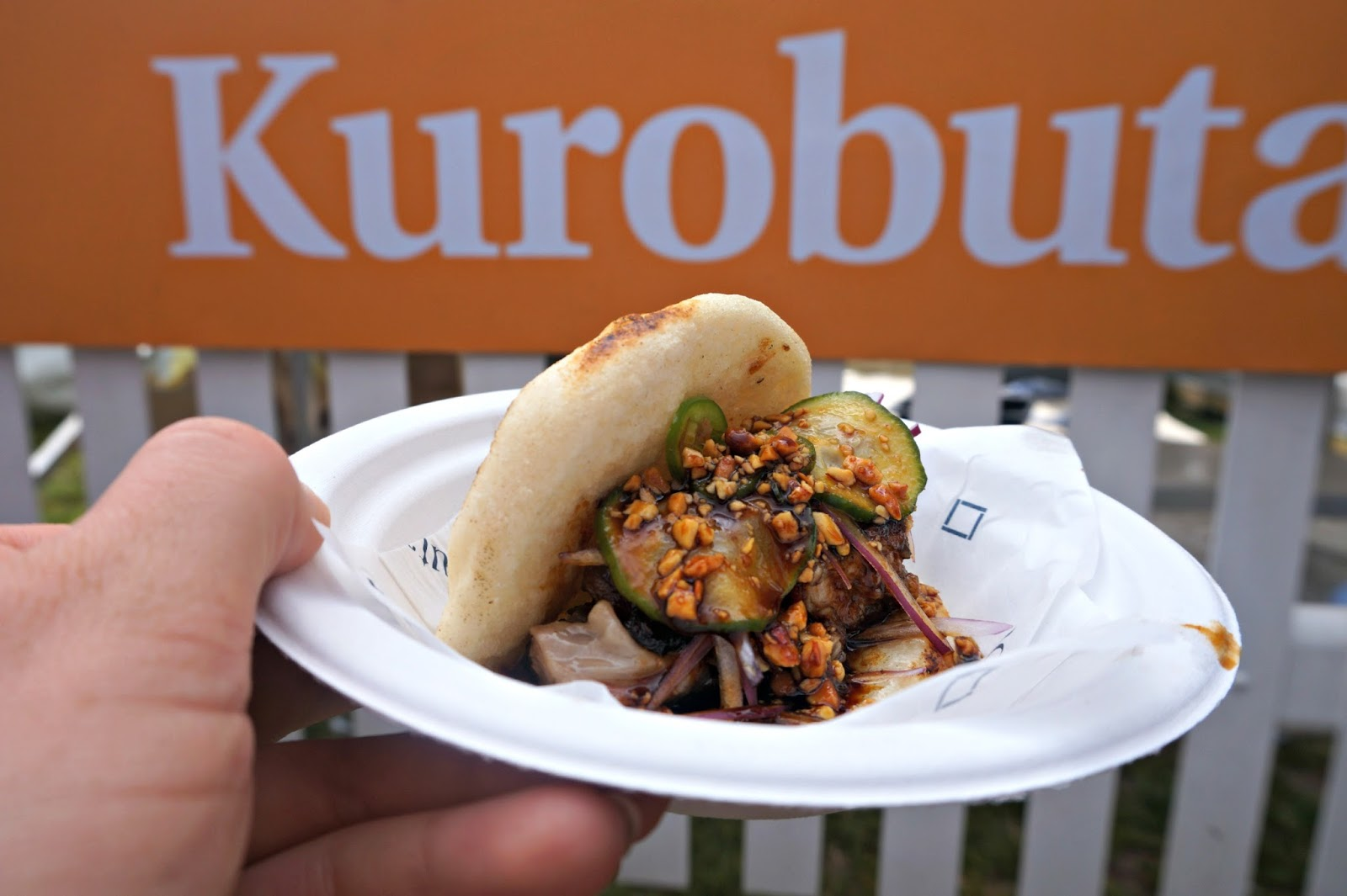 BBQ pork belly steamed bun Kurobuta