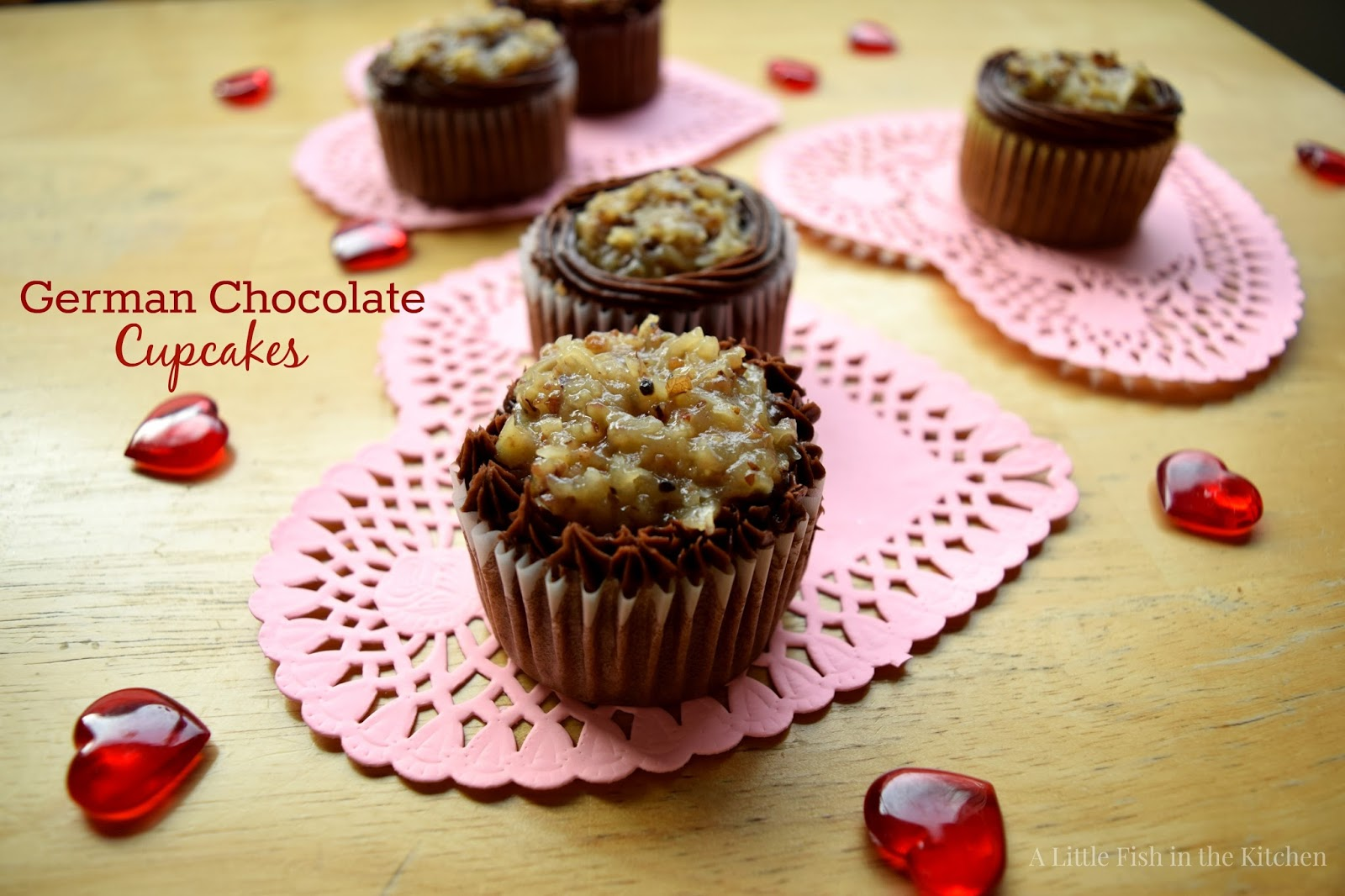 German Chocolate Cupcakes - A Little Fish in the Kitchen