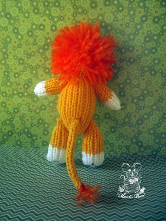 игрушка на заказ, вязание на заказ в Минске, игрушка львенок