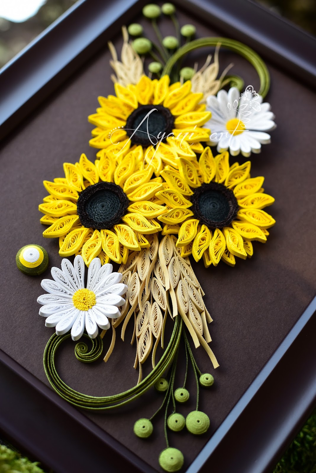 Ayani art: Quilling Sunflowers and Daisies