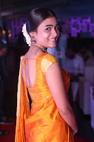 Shalini Pandey in Beautiful Orange Saree Sleeveless Blouse Choli ~  Exclusive Celebrities Galleries 013.JPG