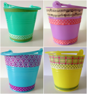 Washi tape mini buckets craft
