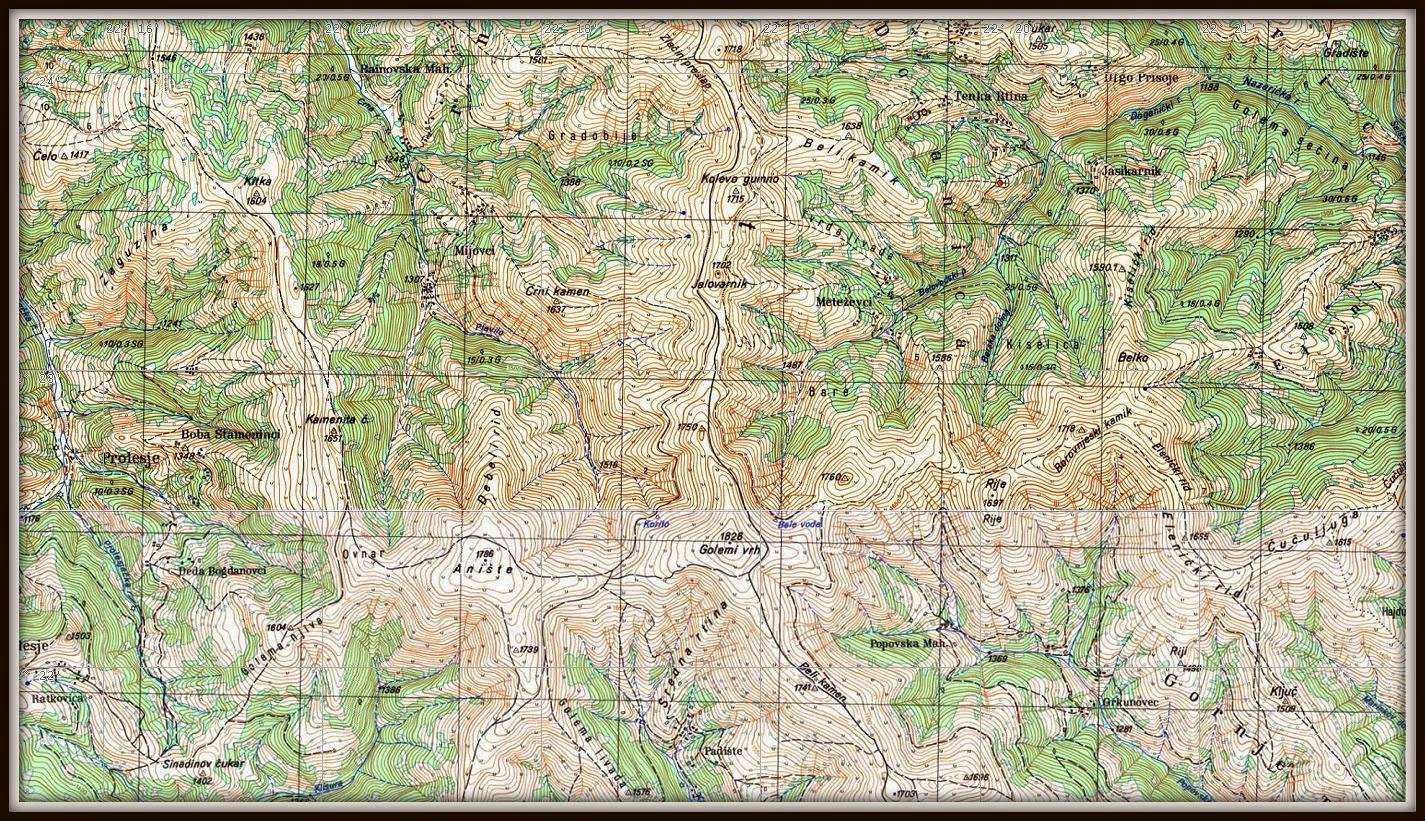 topografska karta srbije 25000 ORBELOS: ORBEL   GEOGRAFIJA topografska karta srbije 25000
