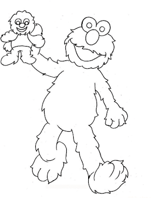 Gambar Mewarnai Elmo - 15