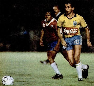 Brasil y Chile en partido amistoso, 9 de diciembre de 1987