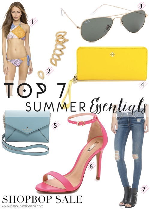 25% OFF SUMMER ESSENTIALS WITH THE SHOPBOP SALE!