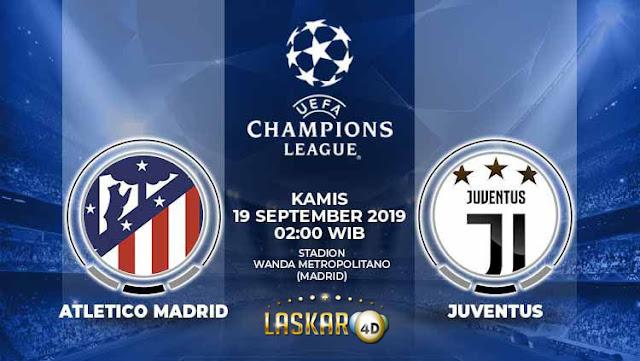 Prediksi Atletico Madrid vs Juventus 19 September 2019