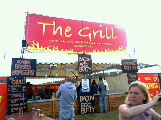 The grill cafe at camp bestival bacon and eggs