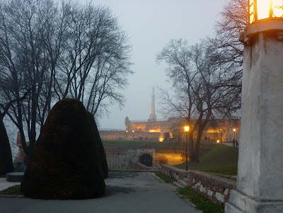 Foggy Victor Statue in Belgrade by Igor L.