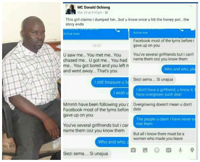 Photos: Guy brags about dumping gf on Facebook after