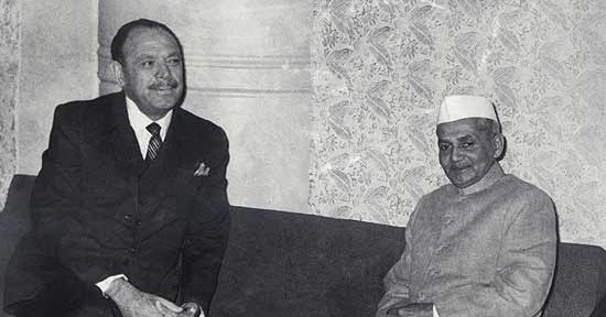 CHINAR SHADE : SHASTRI JI , GENERAL AYUB KHAN , TASHKENT