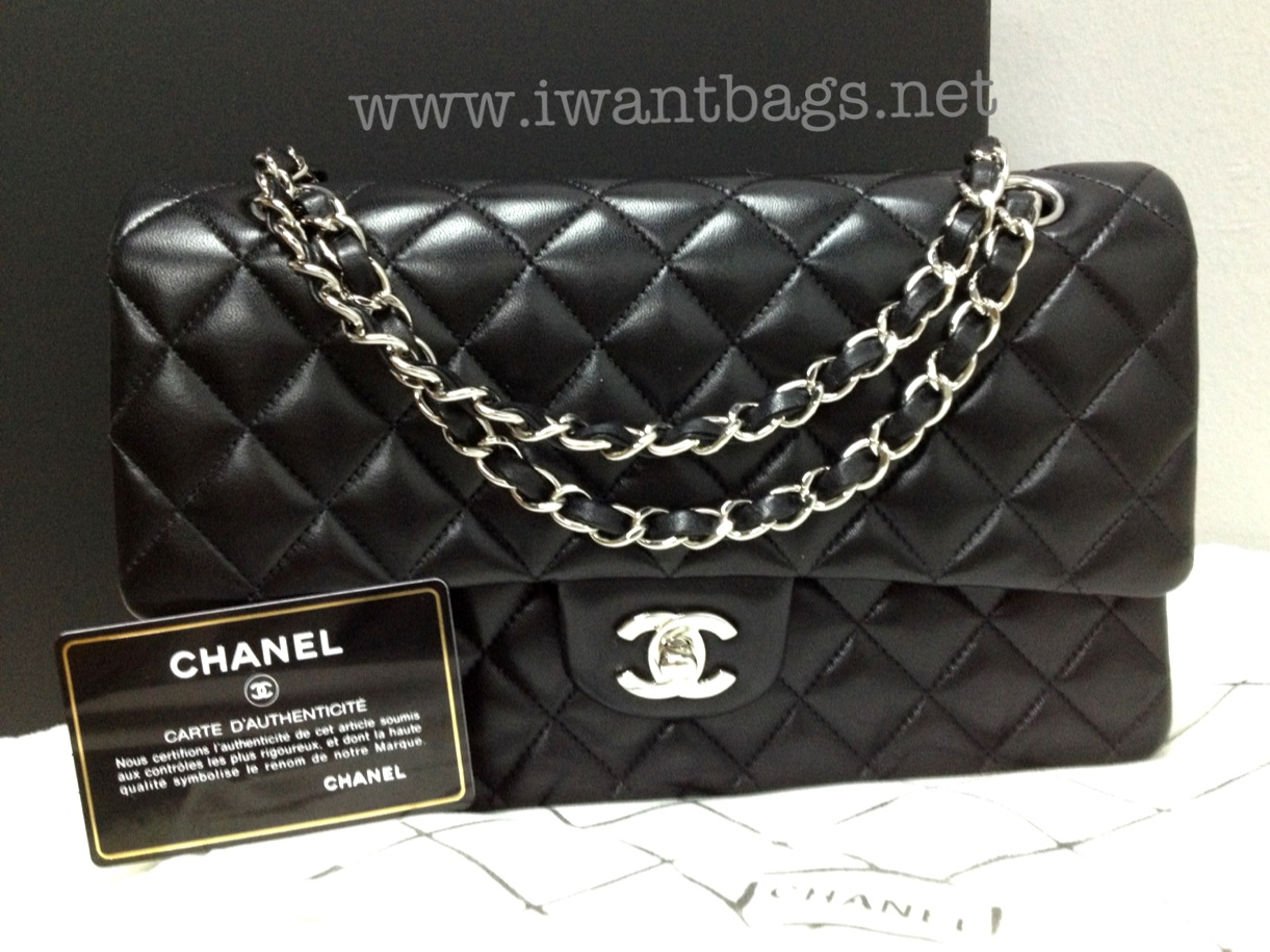 53041bc5fcb6 I Want Bags backup: Chanel Classic Medium Flap in Lambskin Black ...