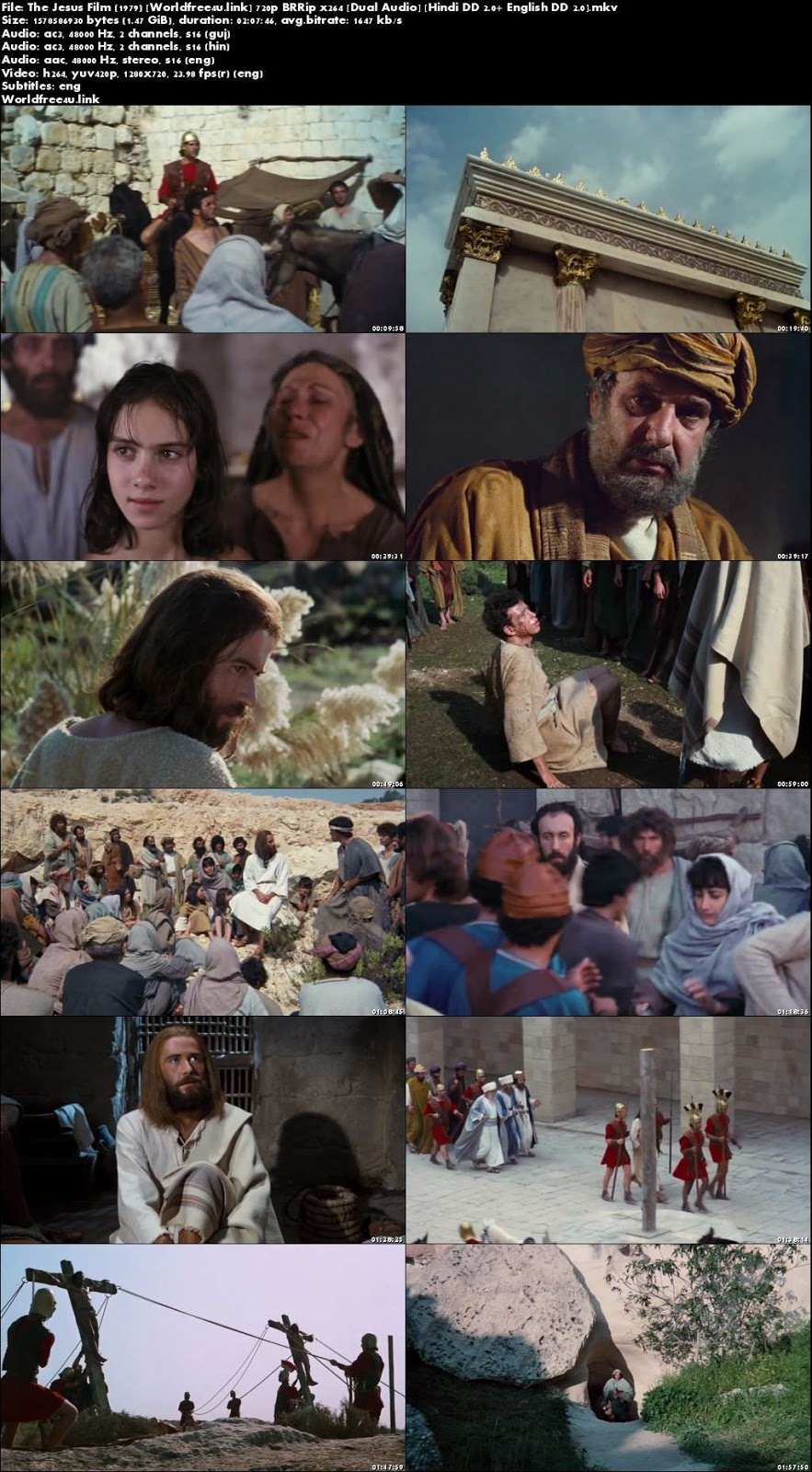 Screen Shoot of The Jesus Film 1979 BRRip 720p Dual Audio Hindi English