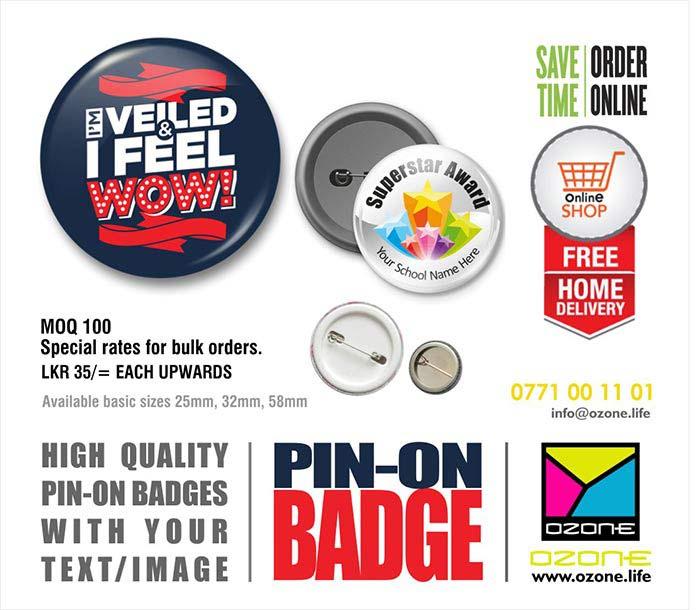 Ozone Branding - Sri Lanka | Custom Printed Pin-On Badges