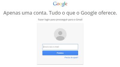 Como fazer login no Gmail
