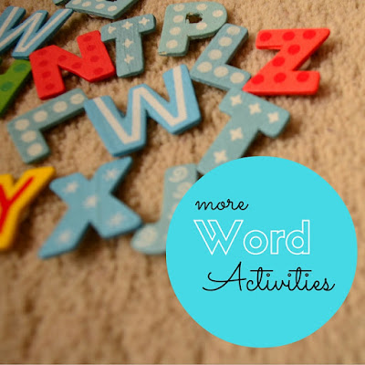 The Practical Mom: Word Building Activities