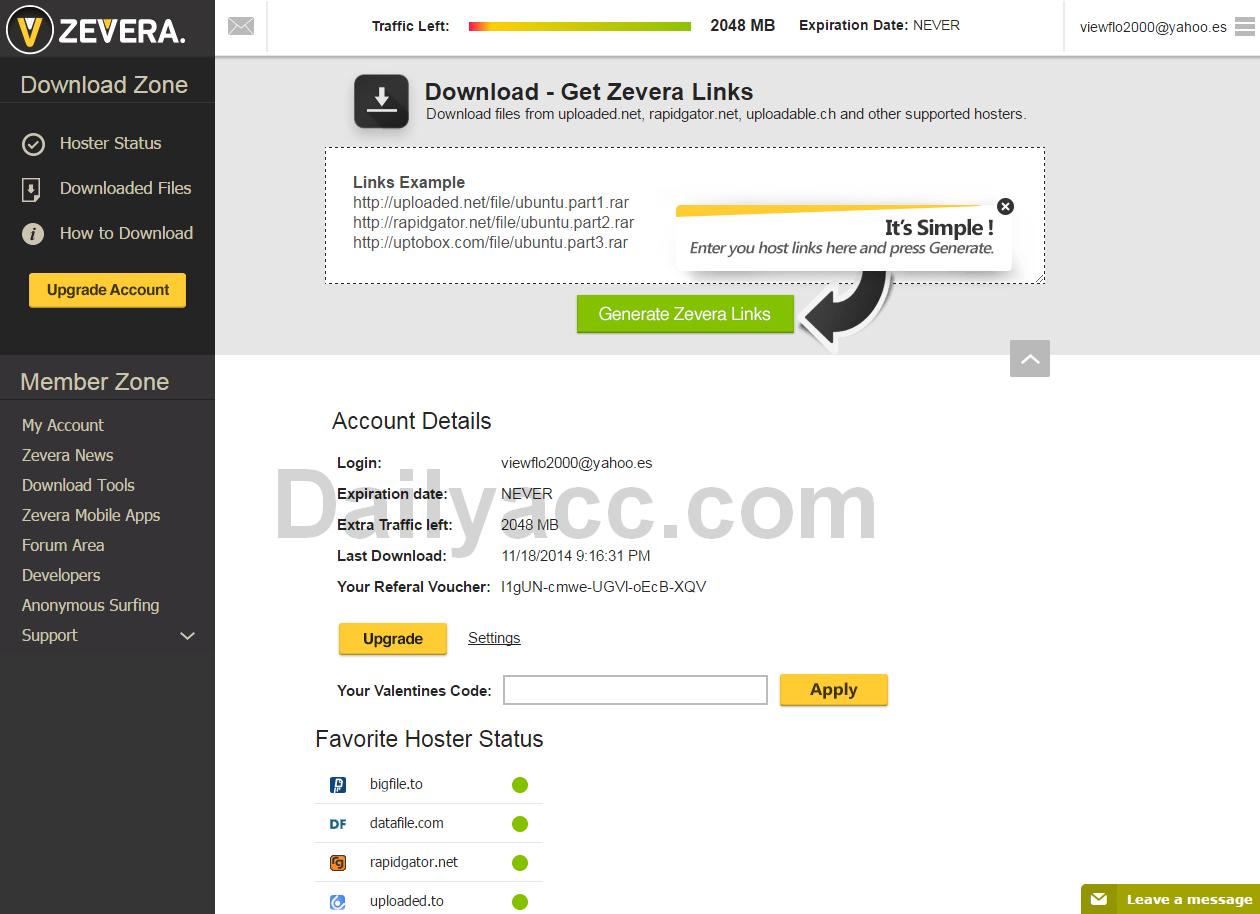 x3 Zevera.com Premium Accounts April 24, 2017