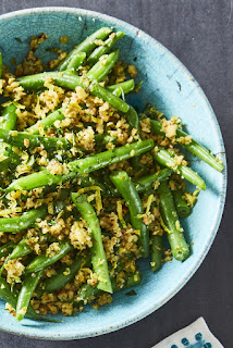 Recipe for Katie Lee's Green Beans with Olive Almond Tapenade