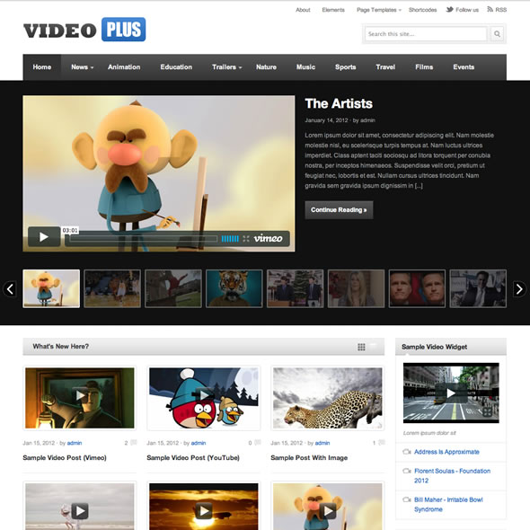 VideoPlus Wordpress Theme